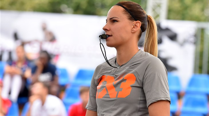 How Toth became the first-ever woman to officiate the men's final of the FIBA 3x3 Europe Cup