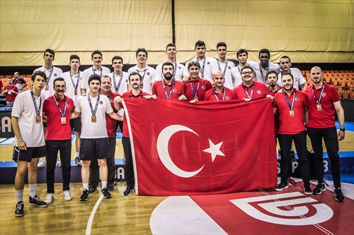 Bronze medalists Turkey