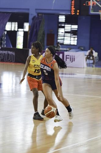 5 Brittany Shae Jose Meno (GUM), 15 Valerie Kau'u Maikai (PNG)