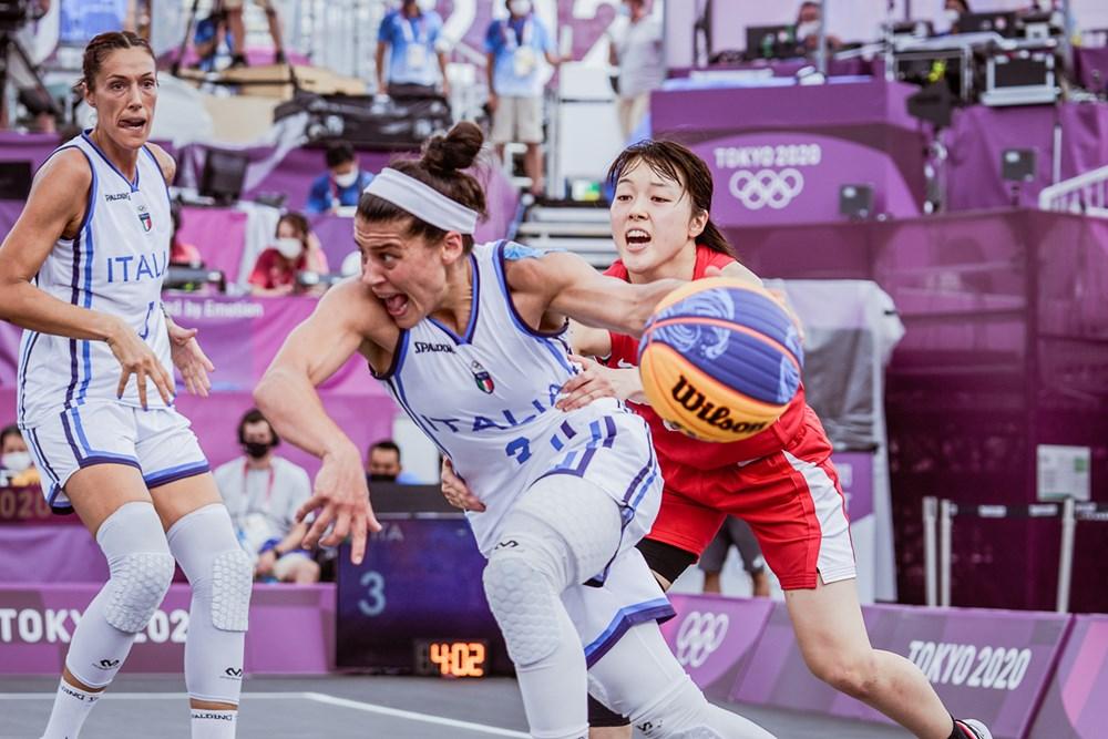 Tokyo 2020, 3×3: l'Italia viene eliminata, la Cina passa in semifinale vincendo 19-13