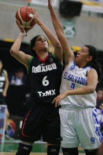 6 Mariana Valenzuela (MEX), 9 Silvia Vega (ESA)