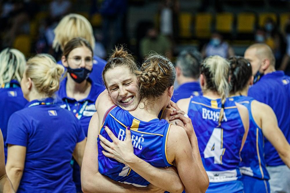 Bosnia-Herzegovina celebra su segunda victoria del Eurobasket de España y Francia