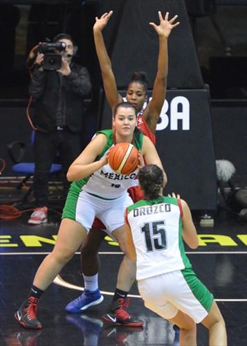 13 Myriam Lara (MEX), 15 Maria Orozco (MEX)