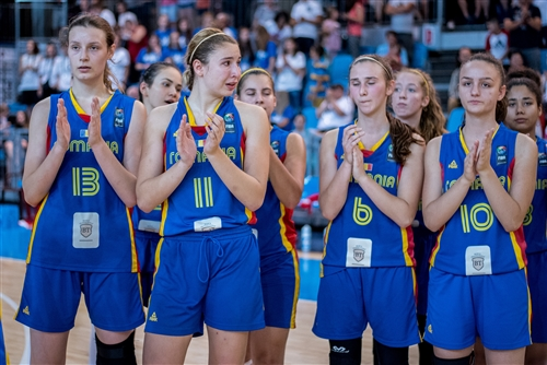 13 Alexandra Ghita (ROU), 11 Sarah Dumitrescu (ROU), 6 Denisa Vati (ROU), 10 Rebecca Coroian (ROU), Romanian team disappointed about the loss of the competition
