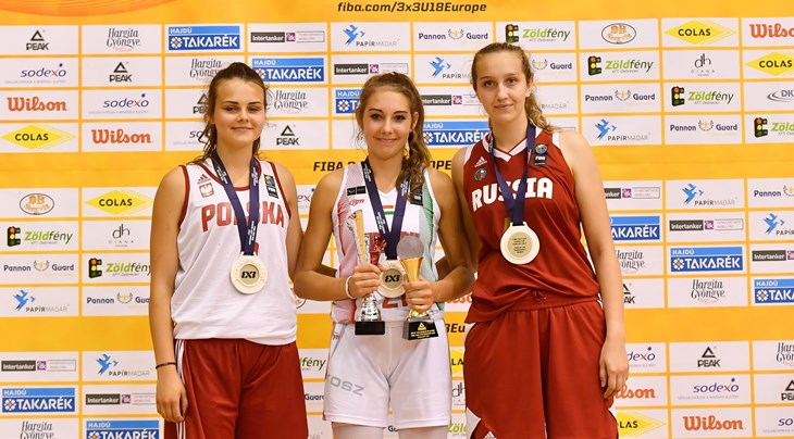 MVP Toth headlines women's FIBA 3x3 U18 Europe Cup 2017 Team of the Tournament