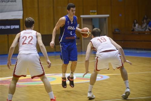 19 Evgenii Litvinov (RUS), 22 Aleksandr Ershov (RUS), 4 Tomer Levinson (ISR), Russia v Israel, Final