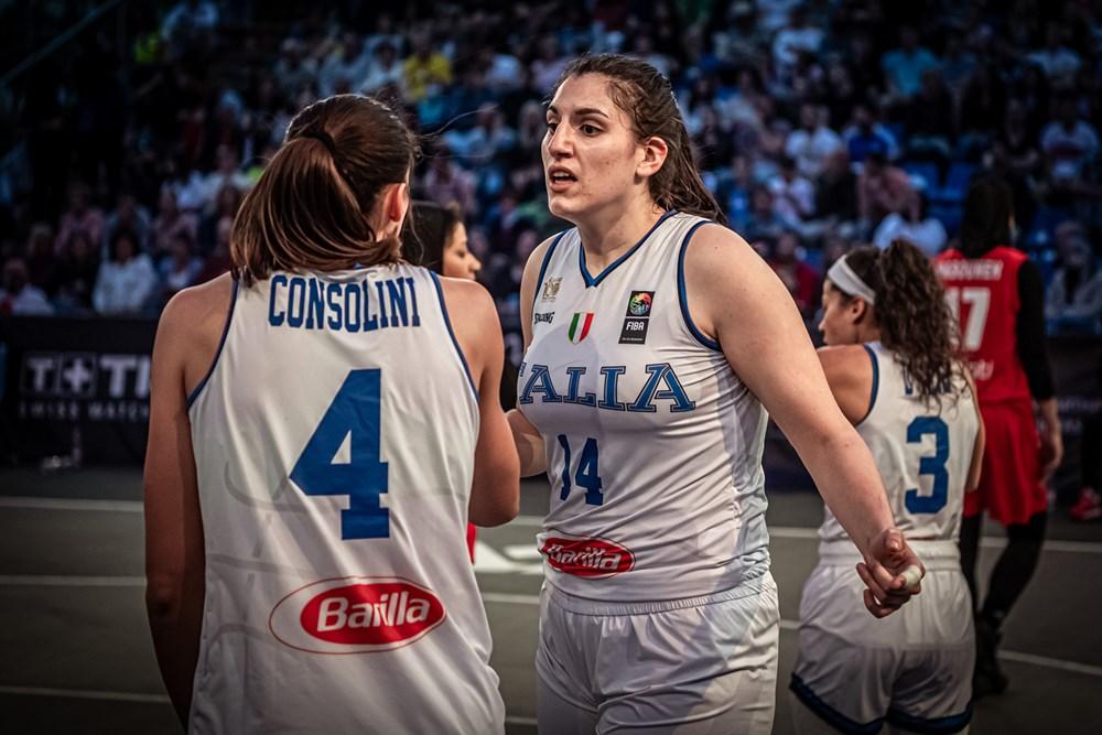 Preolimpico 3×3 femminile: Azzurre ok con Taipei (21-11) e Iran (21-5)