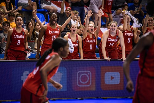 Canada outlasted China to make it to the last four of the competition for the first time since 2009