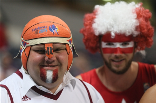 Latvia fans