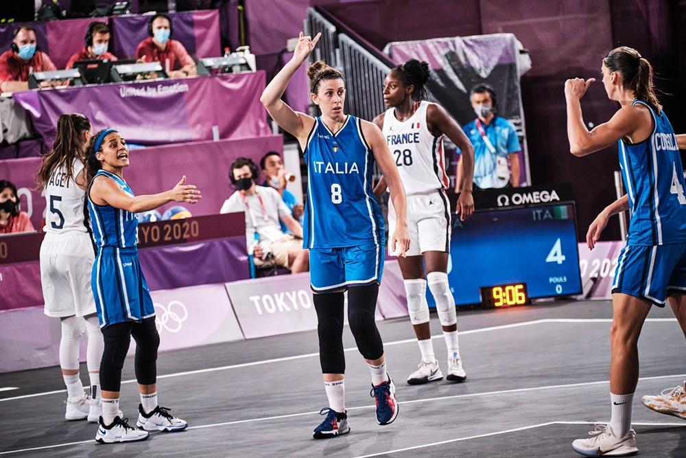 """Tokyo 2020. 3×3 femminile. Capobianco: """"Ripartiamo dagli ottimi 7 minuti contro le transalpine"""""""