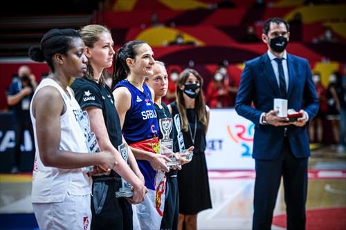 5 Endene Miyem (FRA), 5 Sonja Vasic (SRB)