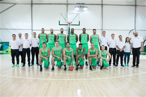 Brazil team photo with staff