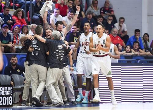 13 Caio Aparecido Silveira Torres (BRA), 11 Guilherme Filipin Alves Pereira (BRA), 2 Patrick Luis De Ana Vieira (BRA), Jorge Guerra (BRA), Mogi das Cruzes celebrates