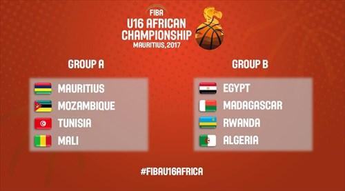 Draw Results FIBA U16 African Championship 2017