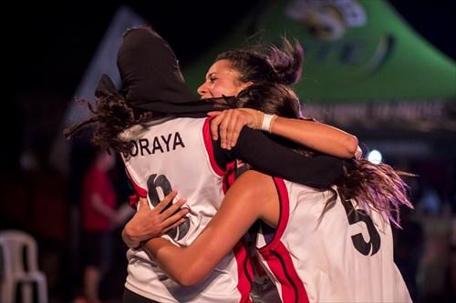 5 Nouralla Abdelalim (EGY), 8 Soraya Degheidy (EGY), 14 Hala Elshaarawy (EGY)