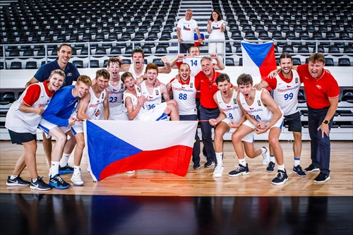 Czech Republic celebrating the win and taking the 7th place
