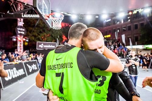 3 Marko Savić (SRB), 7 Dejan Majstorovic (SRB), Novi Sad vs Liman
