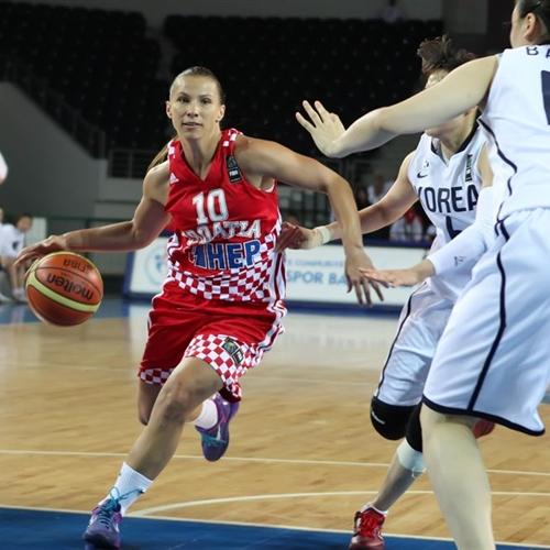 Iva CIGLAR (Croatia) led the team advancing all the way to London 2012