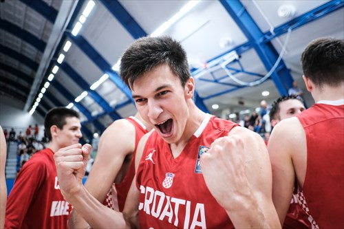 Team Croatia celebrating