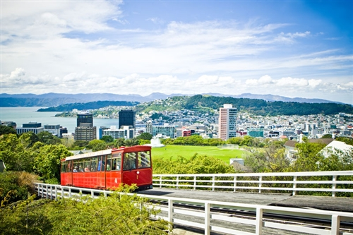 Cable car lookout to city, Wellington