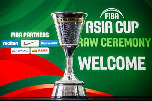 The newly designed FIBA Asia Cup trophy