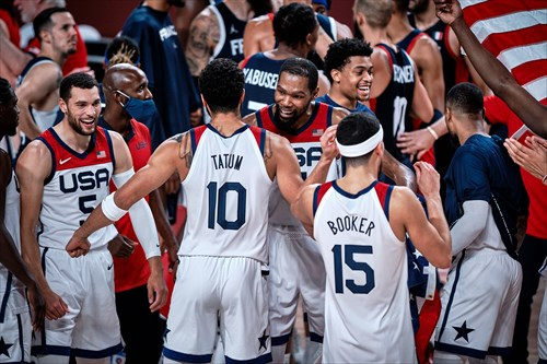 5 Zach Lavine (USA), 7 Kevin Durant (USA)