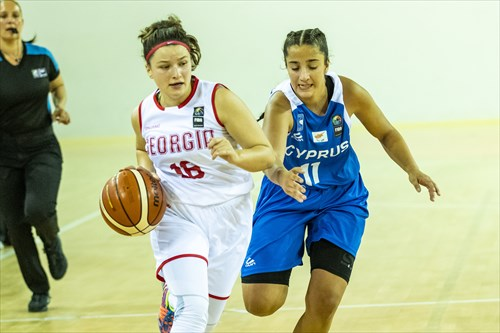 11 Maria Sotireli (CYP), 16 Nino Tchankvetadze (GEO)