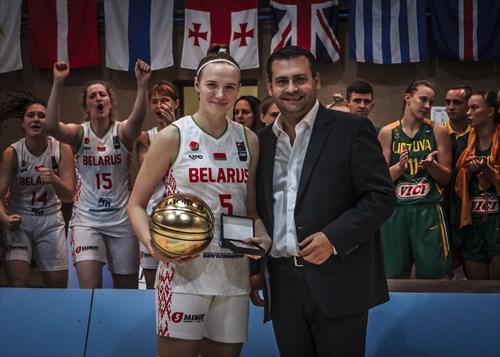 MVP Kseniya Malashka (BLR)