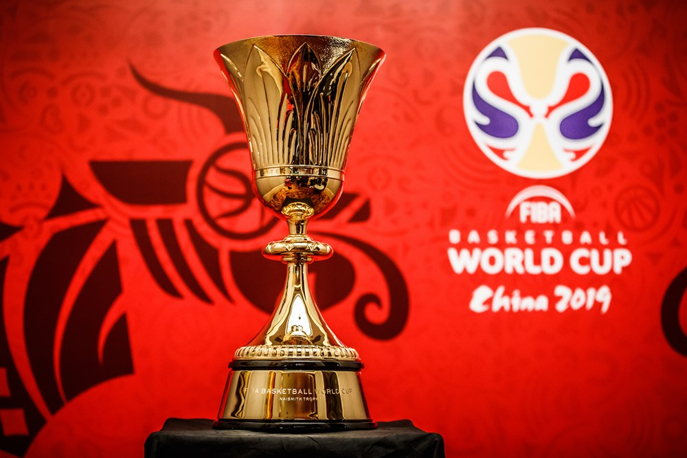 Znalezione obrazy dla zapytania fiba world cup trophy