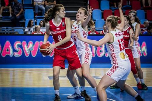6 Katsiaryna Karpuk (BLR), 12 Aryna Masko (BLR), 8 Veronika Vorackova (CZE)