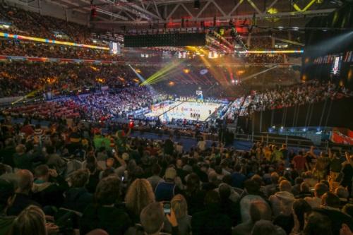 Crowd at EuroBasket 2015 Final in Pierre Mauroy Stadium, Lille.