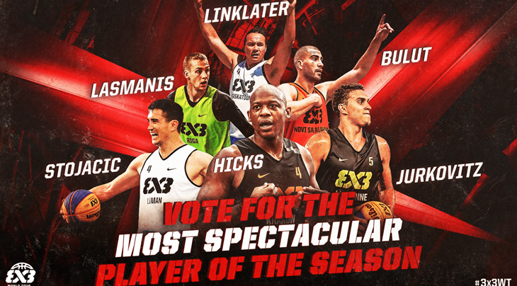Fan vote for Most Spectacular Player of FIBA 3x3 World Tour Season open