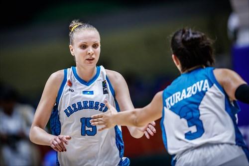15 Nadezhda Kondrakova (KAZ), 3 Zalina Kurazova (KAZ)