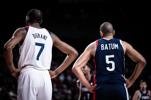 7 Kevin Durant (USA), 5 Nicolas Batum (FRA)