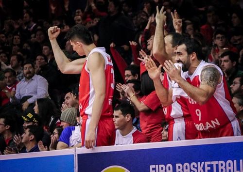 Chile bench celebrate