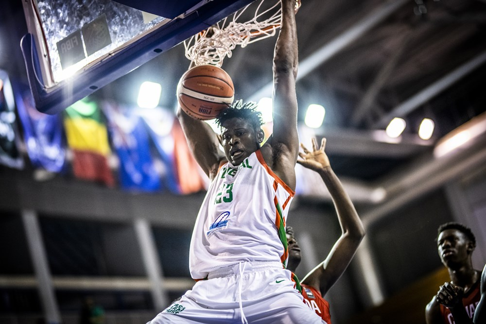 Biram Faye played very well for Senegal in his team's loss to Canada.  (Photo: FIBA.)