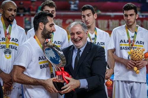 6 Dewarick Antwain Spencer (LIB), 9 Wael Arakji (LIB), 7 Karim Zeinoun (LIB), 13 Salim Alaaeddine (LIB), 4 Jean Abd El Nour (LIB), Closing Ceremony