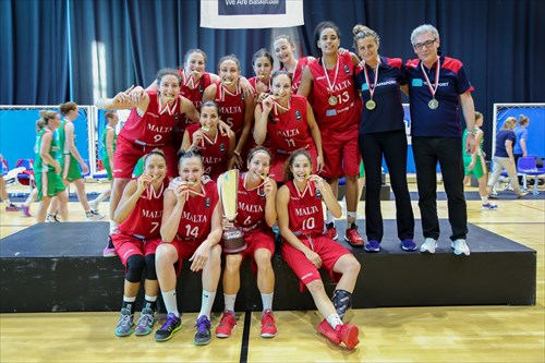 Closing Ceremony FIBA Women's European Championship For Small Countries