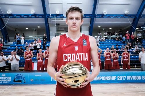 Tournament MVP Luka Samanic