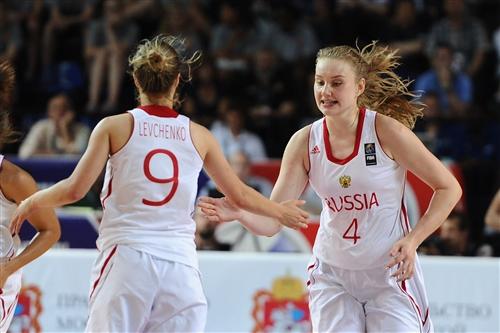 4 Raisa MUSINA (Russia); 9 Kseniia LEVCHENKO (Russia)