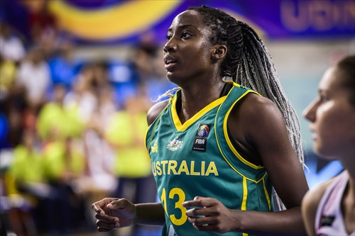 Double-double for Ezi Magbegor (18 PTS / 10 REB) in Australia's win vs. Hungary
