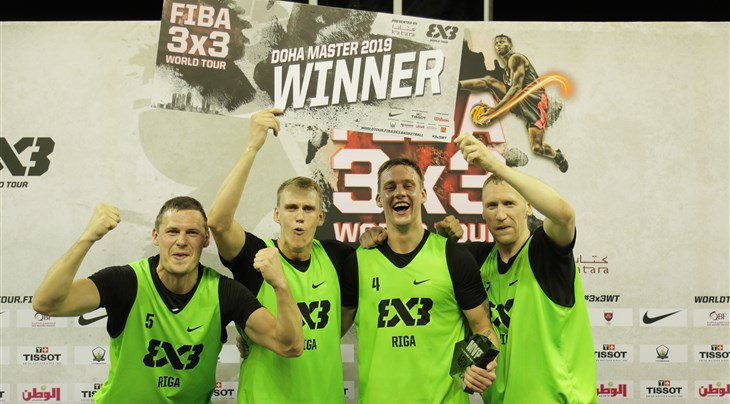 Riga Ghetto claim their first Masters after winning the FIBA 3x3 World Tour Doha Masters
