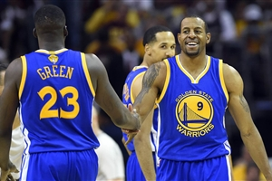Draymond Green and Andre Iguodala (USA)