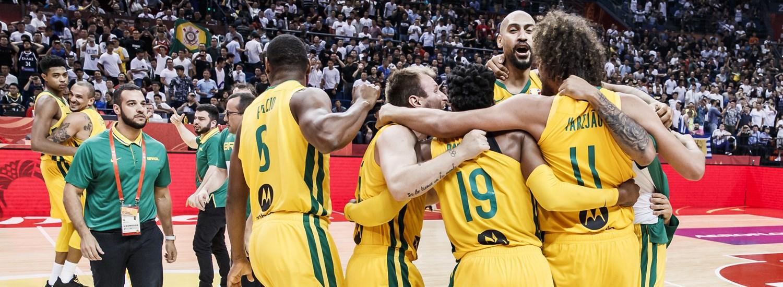 Brazil scrape by Greece in tense finish - FIBA Basketball