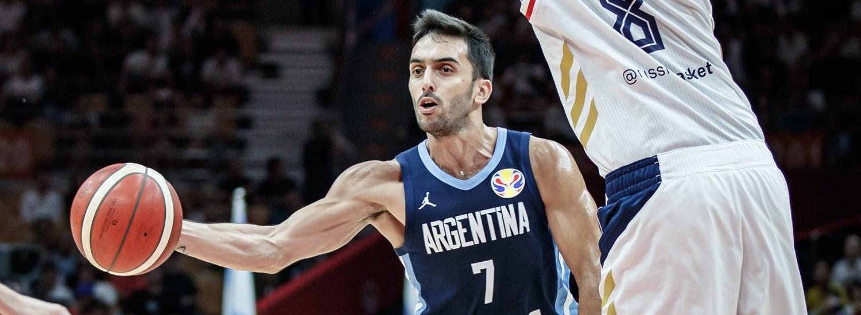 Campazzo Scola Argentina Mens Basketball World Cup Summer Suits Kits Top+Shorts 1 Set CBVB Mens Basketball Jersey Home /& Away