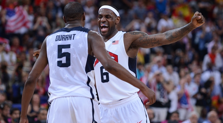 LeBron says he wishes he was with US team in Rio
