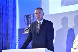 FIBA Executive Director Europe, Kamil Novak,a the FIBA Europe Cup Draw