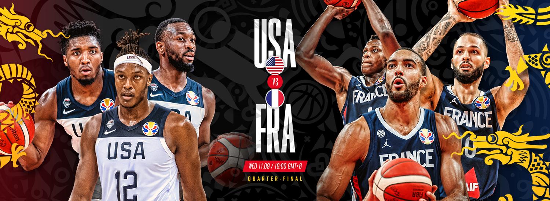 Can Team Usa Get Past France In The Quarter Finals Fiba Basketball World Cup 2019 Fiba Basketball