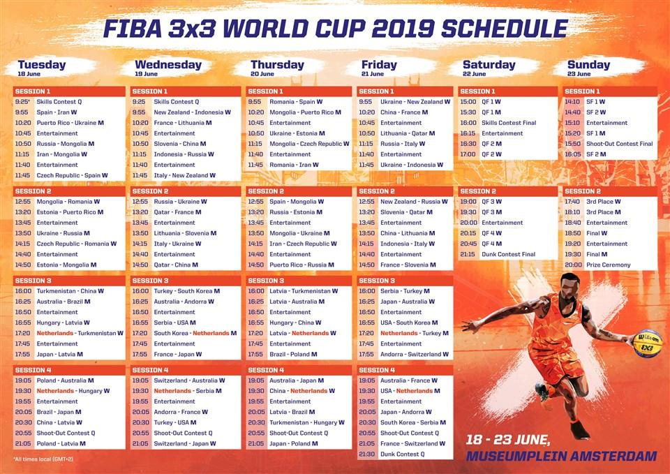 Full Schedule - FIBA 3x3 World Cup 2019 - FIBA basketball