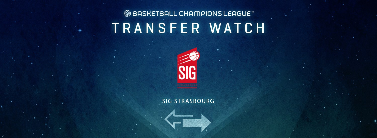 SIG Strasbourg Transfer Watch - Basketball Champions League 2019-20